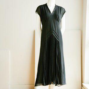 Jacques vert Black Chiffon Midi Black Dress